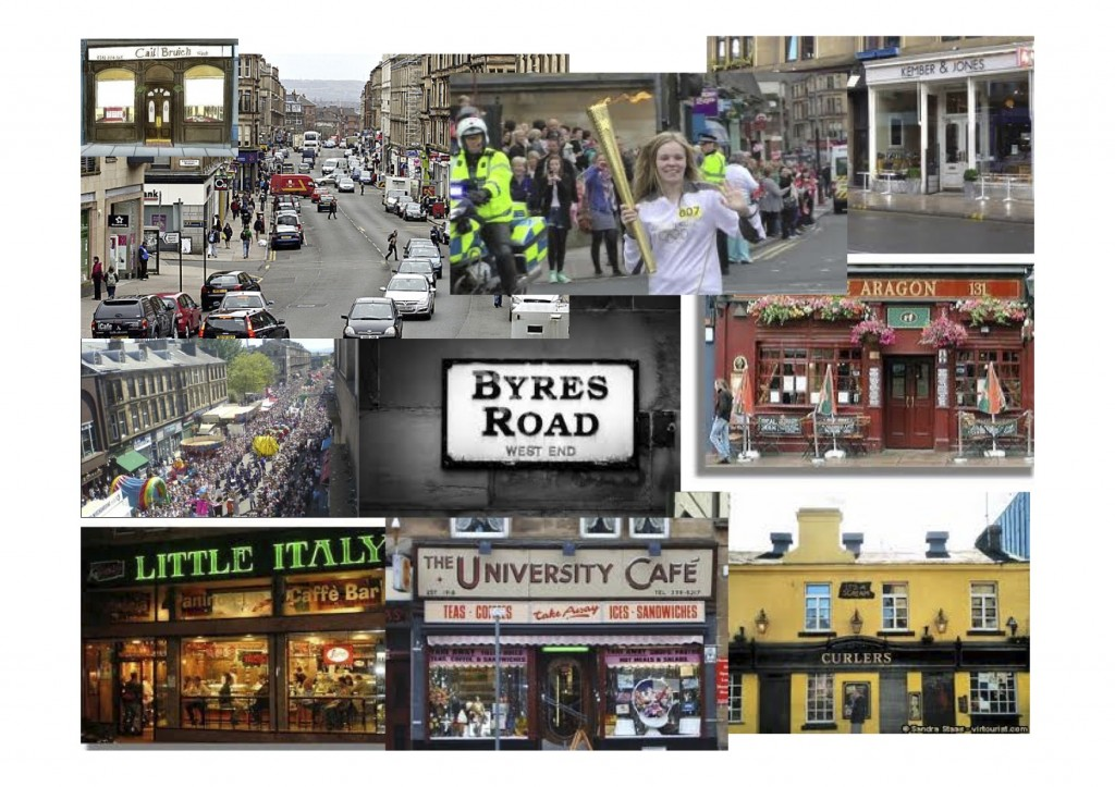 Byres Road - around and about the conference venue - filled with life